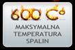 Maksymalna temperatura pracy wynosi 600 stopni celsjusza